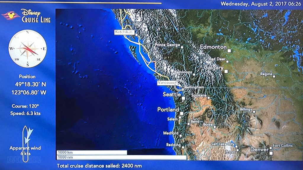 Wonder Stateroom Map Day 10 Vancouver 20170802