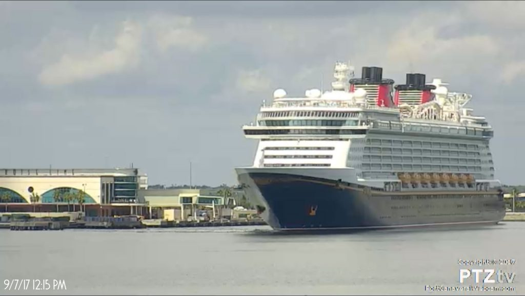Disney Dream Departing PC PTZtv 20170907
