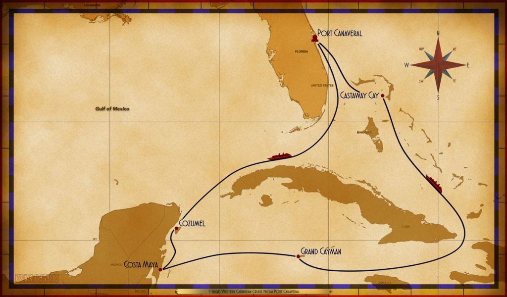 Map Fantasy 7 Night Western Caribbean PC Sea COZ CM GC Sea CC