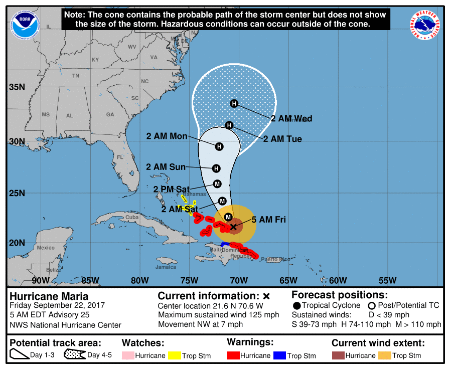 NHC Hurricane Maria 20170922 5AM