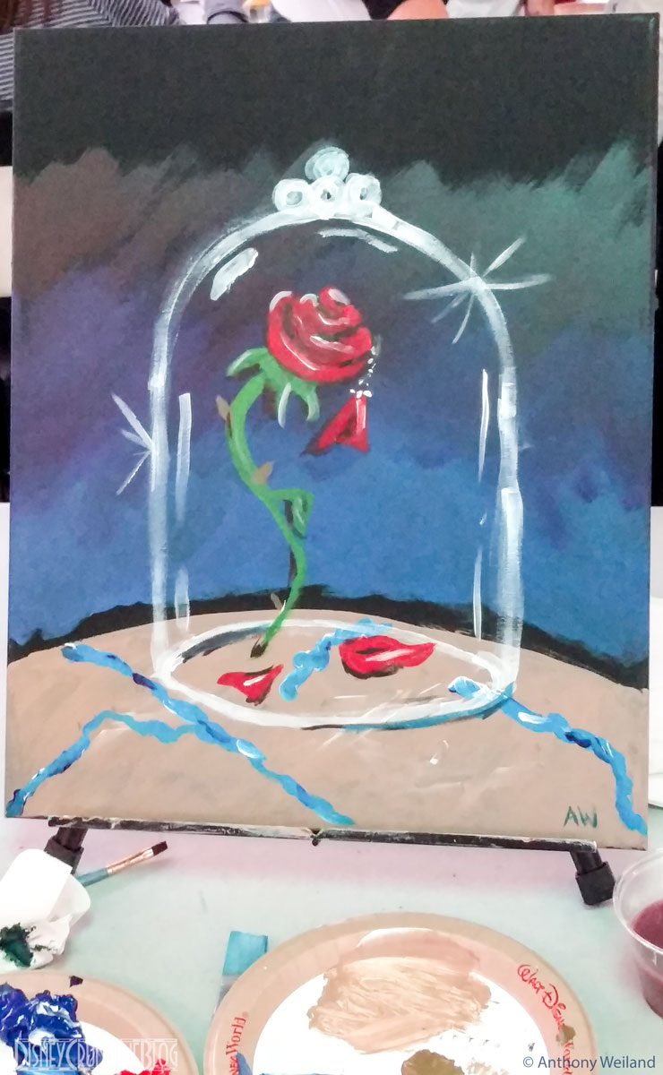 Canvas And Cocktails BatB Enchanted Rose Painting