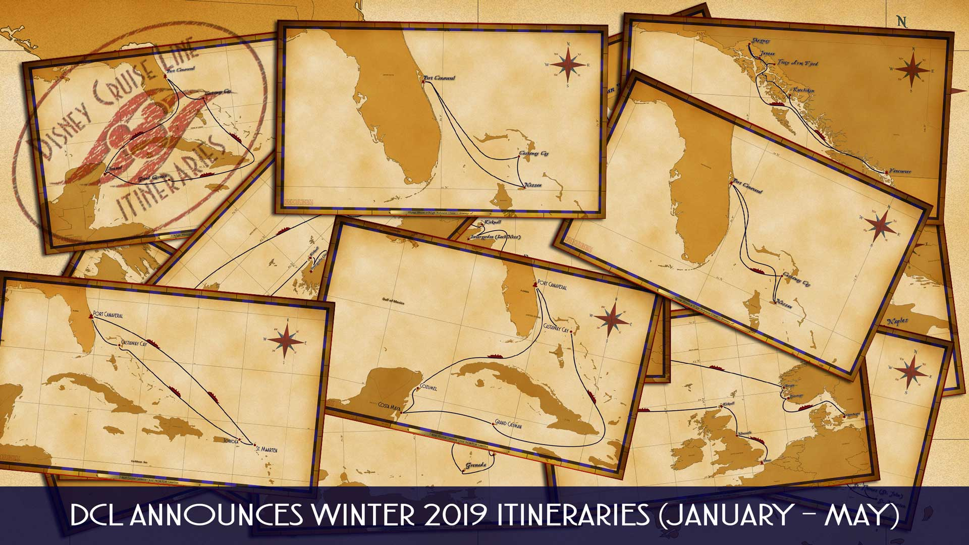 DCL Itinerary Release Winter 2019