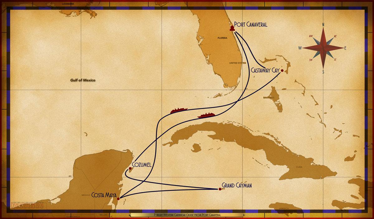 Map Fantasy 7 Night Western Caribbean PC Sea COZ GC CM Sea CC