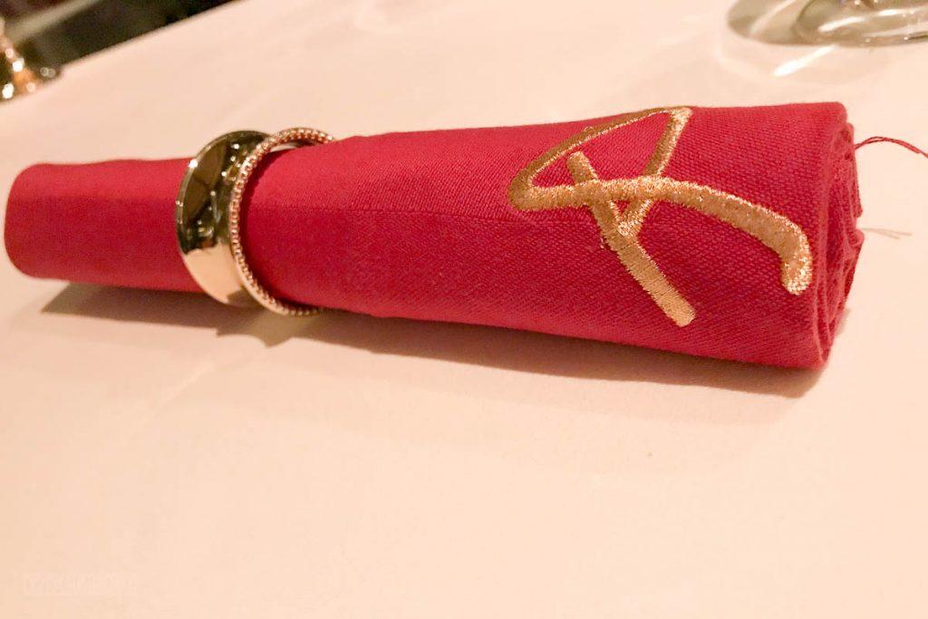 Remy Red Dessert Napkin