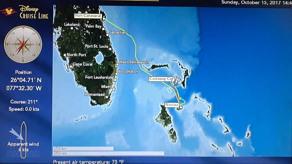 Stateroom TV Map Dream 20171015 Castaway Cay
