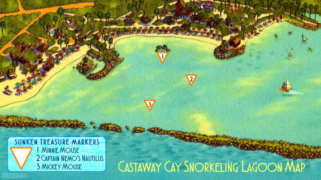 Castaway Cay Snorkeling Lagoon Map