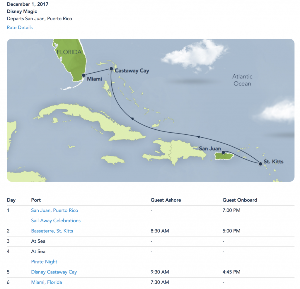 DCL Magic 20171201 Itinerary Update No Tortola