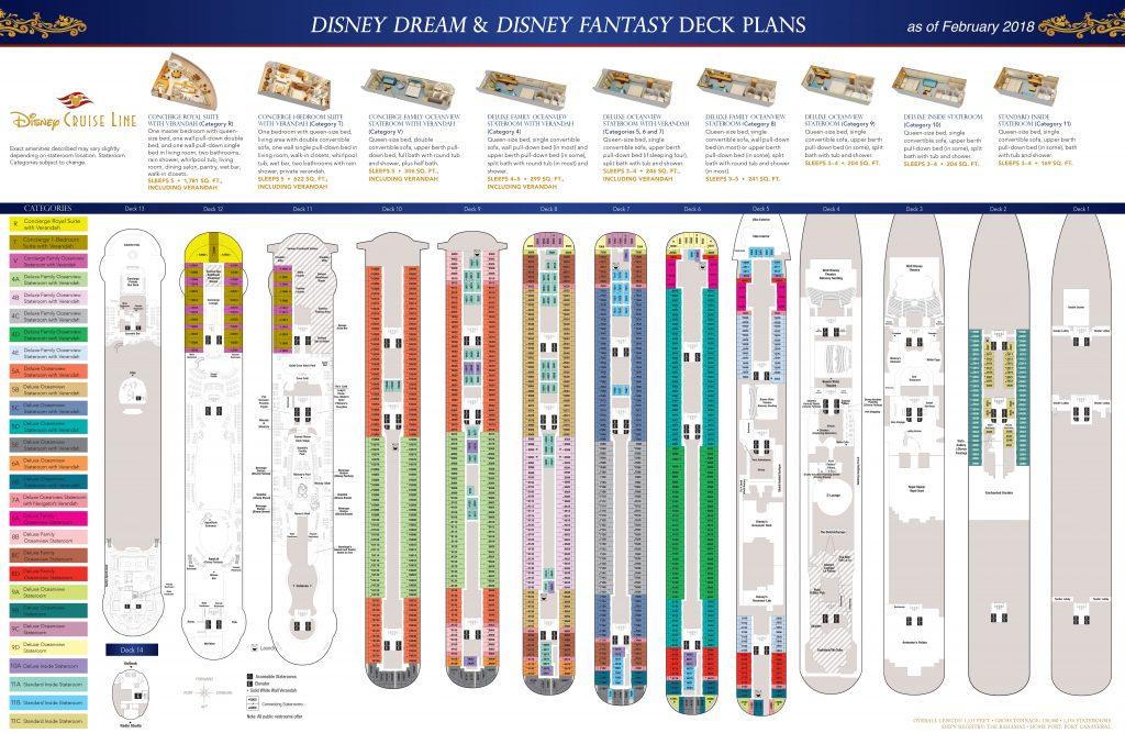 DCL Deck Plans Dream Fantasy February 2018