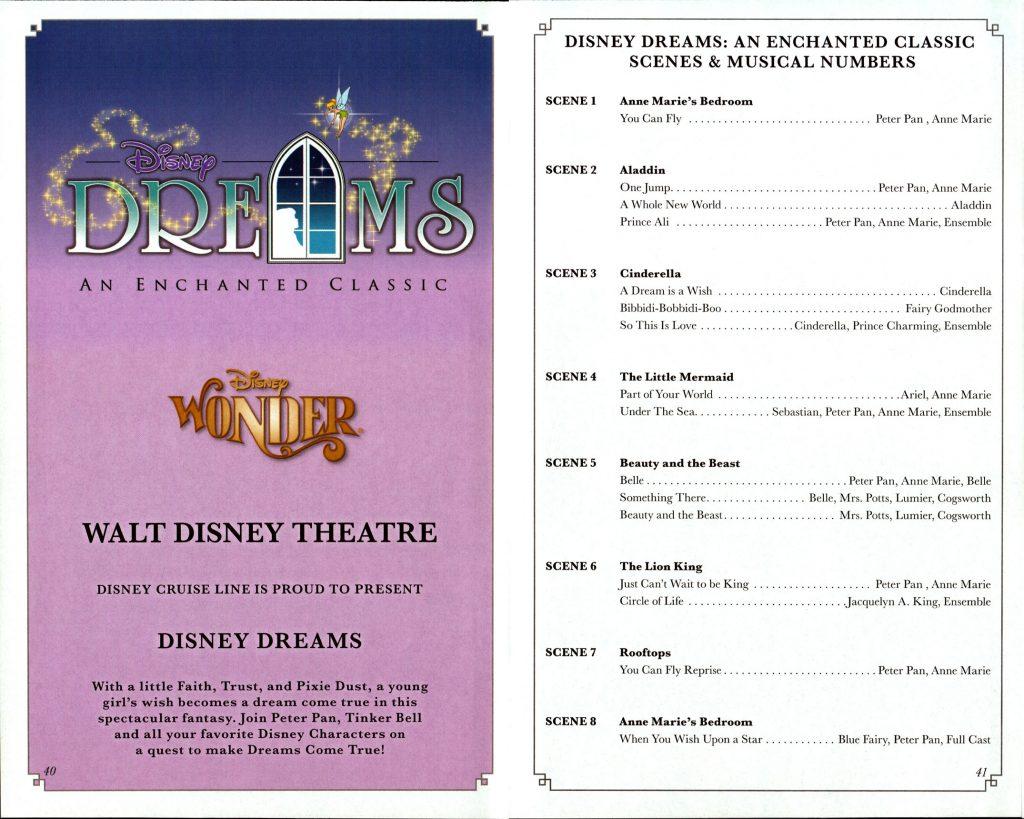 Disney Dreams Enchanted Classic Scenes 2016 Wonder