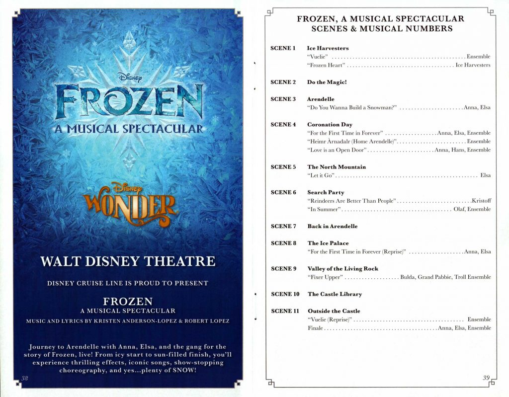 Frozen Musical Spectacular Scenes 2016 Wonder