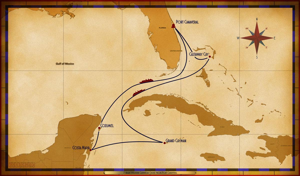 Map Wonder 7 Night Western Caribbean PC CZ CM CZ GC