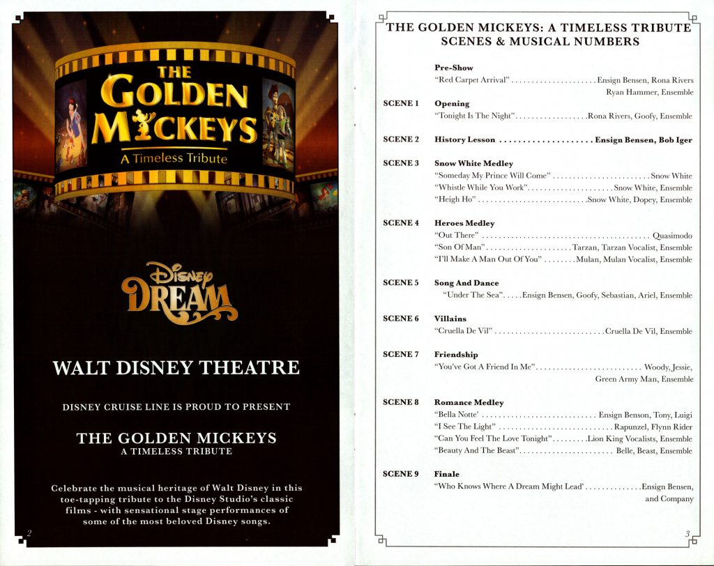 The Golden Mickeys Timeless Tribute Scenes 2016