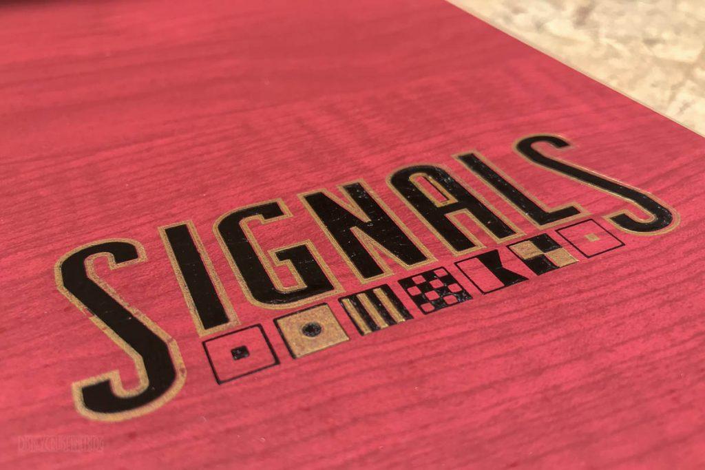 Disney Magic Signals Bar Menu Cover