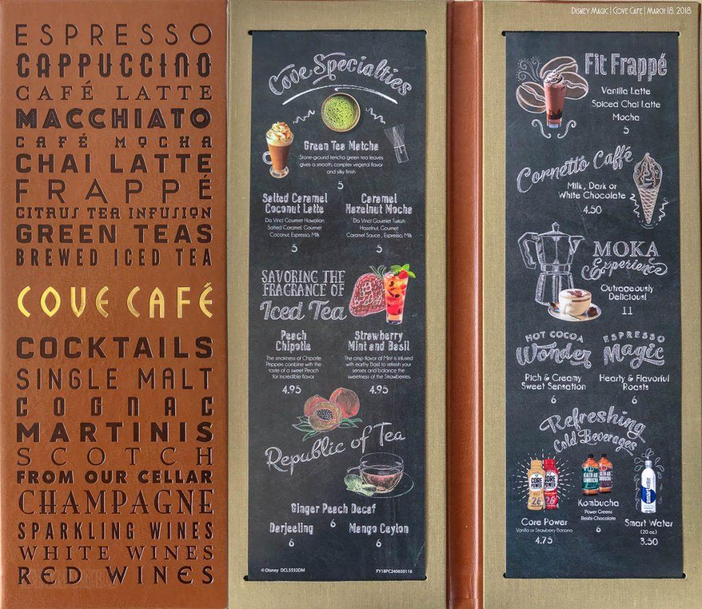 Magic Cove Cafe Menu