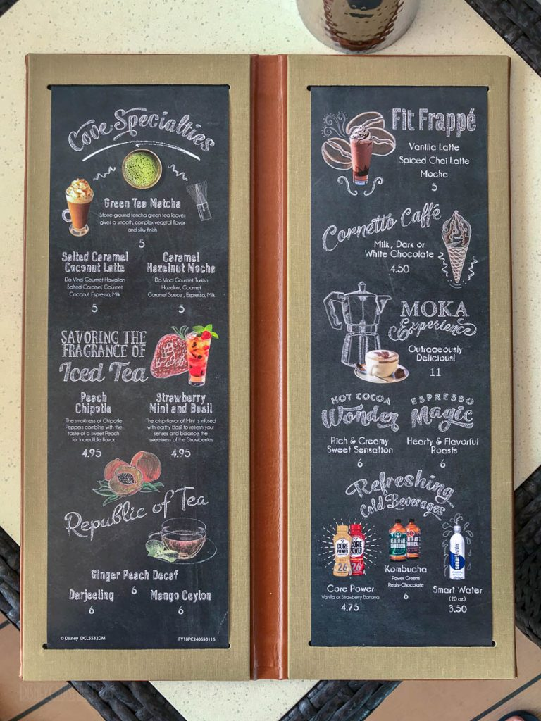 Magic Cove Cafe Menu