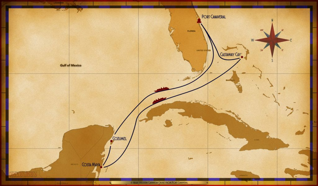 Map Fantasy 6 Night Western Caribbean PC SEA COZ CM SEA CC