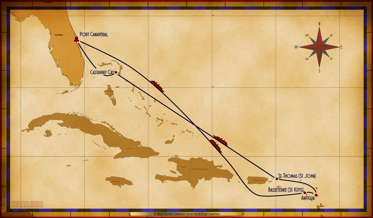 Map Fantasy 8 Night Eastern Caribbean PC SEA SEA BAS ANT STT SEA CC