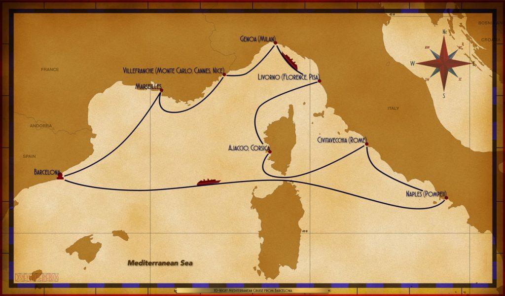 Map Magic 10 Night Mediterranean Itinerary C