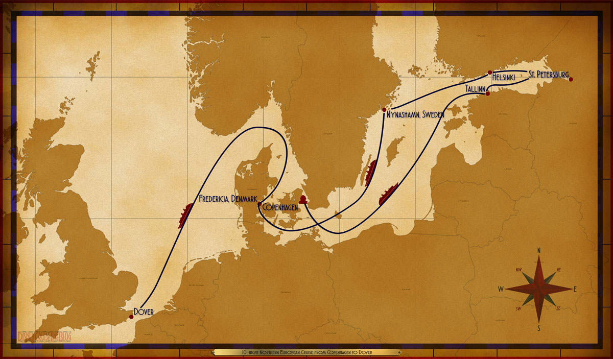 Map Magic 10 Night Northern Europe Copenhagen Dover