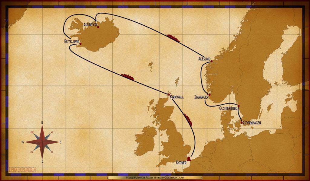 Map Magic 11 Night Norwegian Fjord Iceland Itinerary 2019