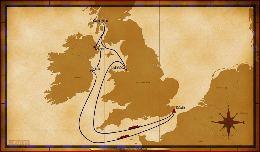 Map Magic 7 Night British Isles Dover 2019