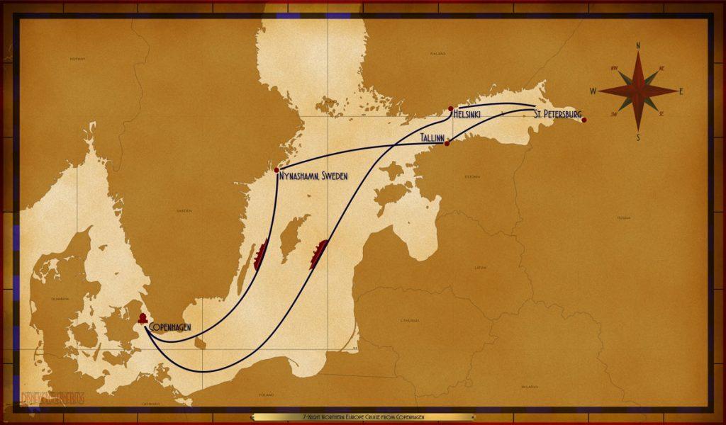 Map Magic 7 Night Northern Europe Cruise Itinerary 2019