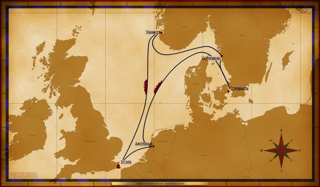 Map Magic 7 Night Northern European Cruise Dover 2019