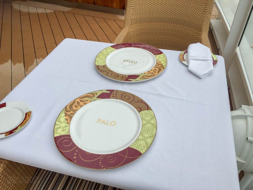 Disney Dream Palo Meridian Outdoor Seating Area
