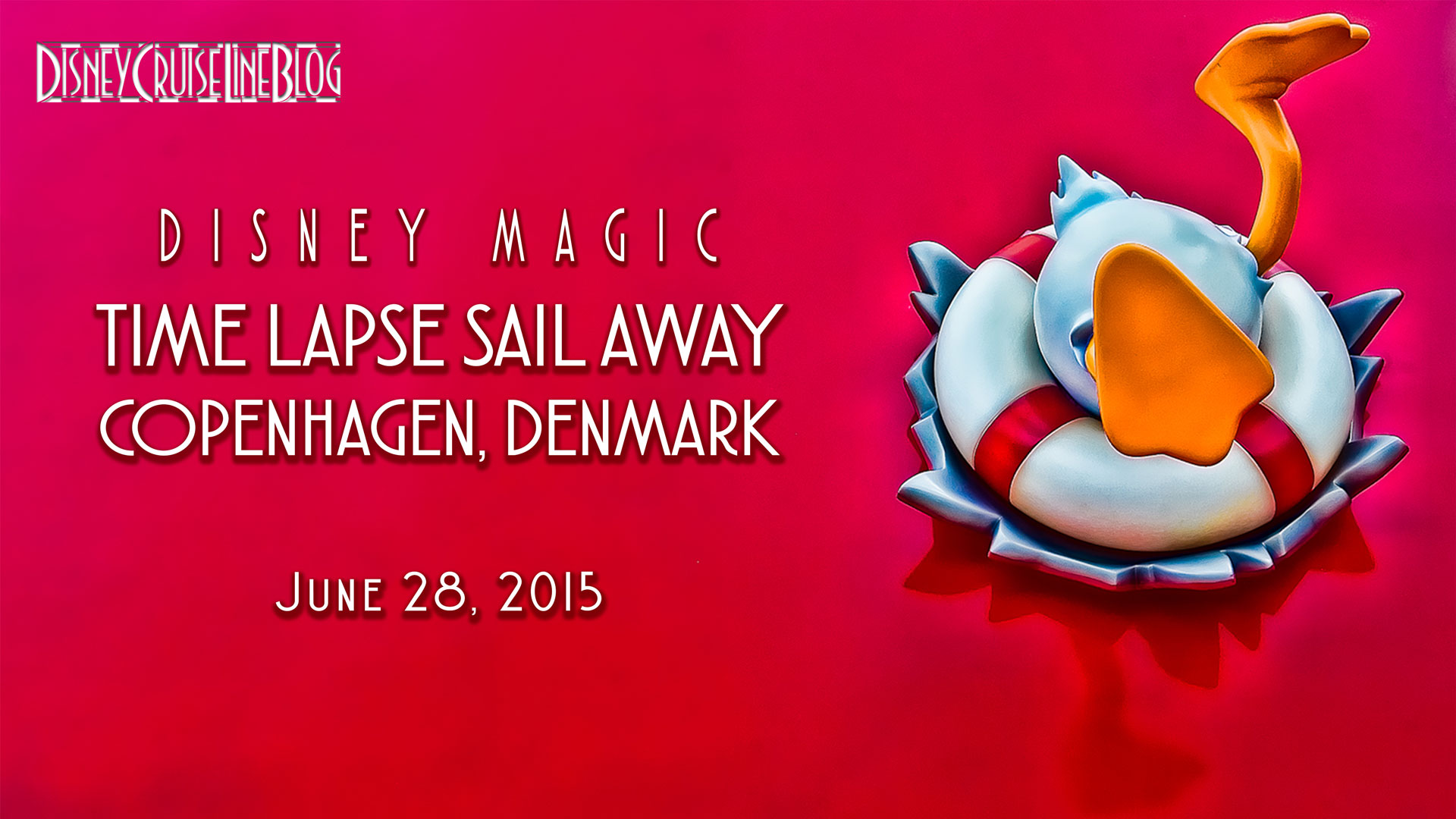 Disney Magic Sail Away Copenhagen Denmark Video