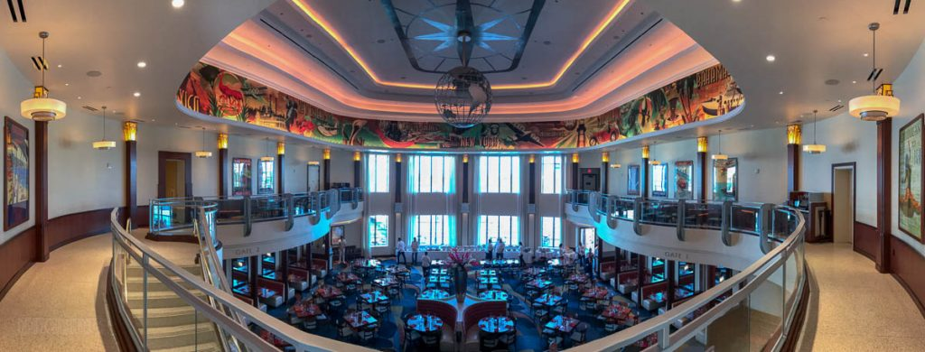 Disney Springs Maria Enzos Dining Room Pano