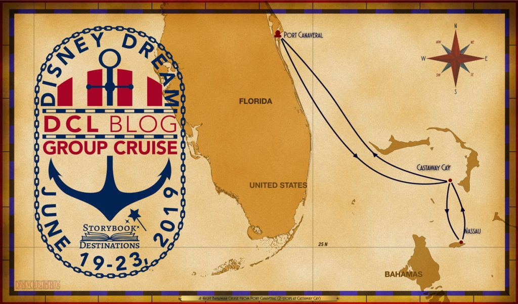 Inaugural DCL Blog Cruise 2019 Itinerary Map