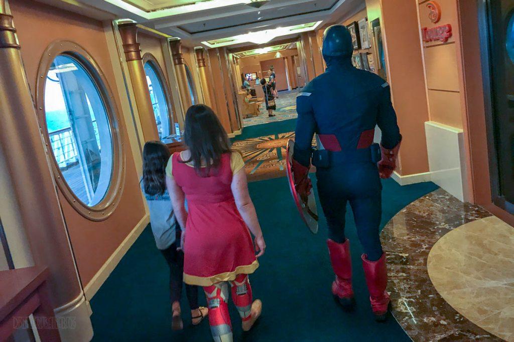 MDAS Captain America Emily Isabelle Walking Around