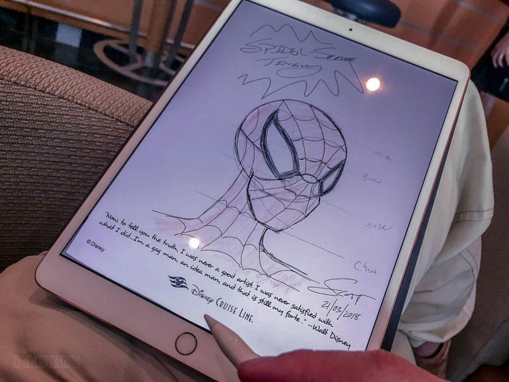 Marvel Comic Academy Drawing Class SpiderMan IPad
