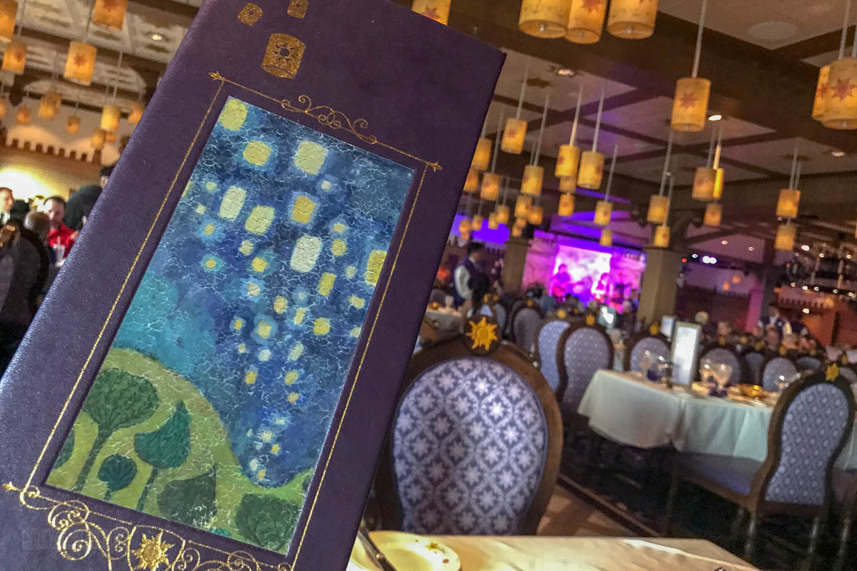 Rapunzel's Royal Table Drink Menu Cover