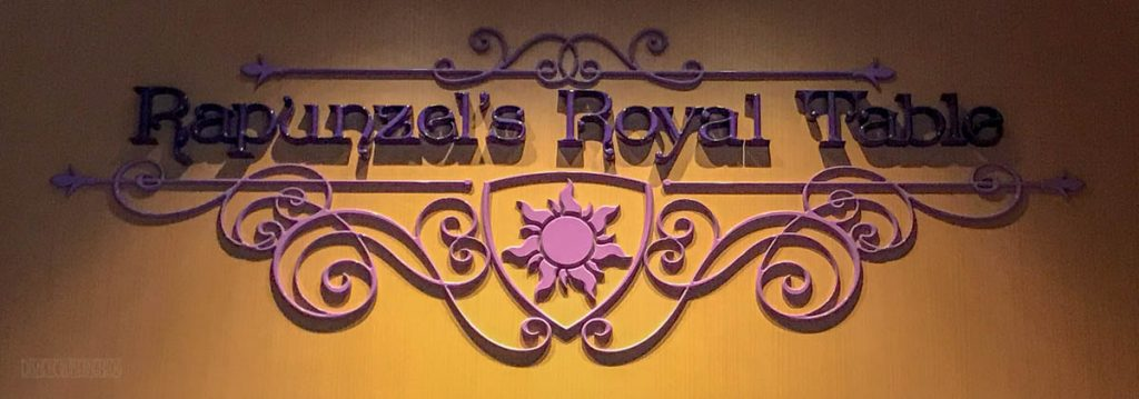 Rapunzel's Royal Table Entrance Sign