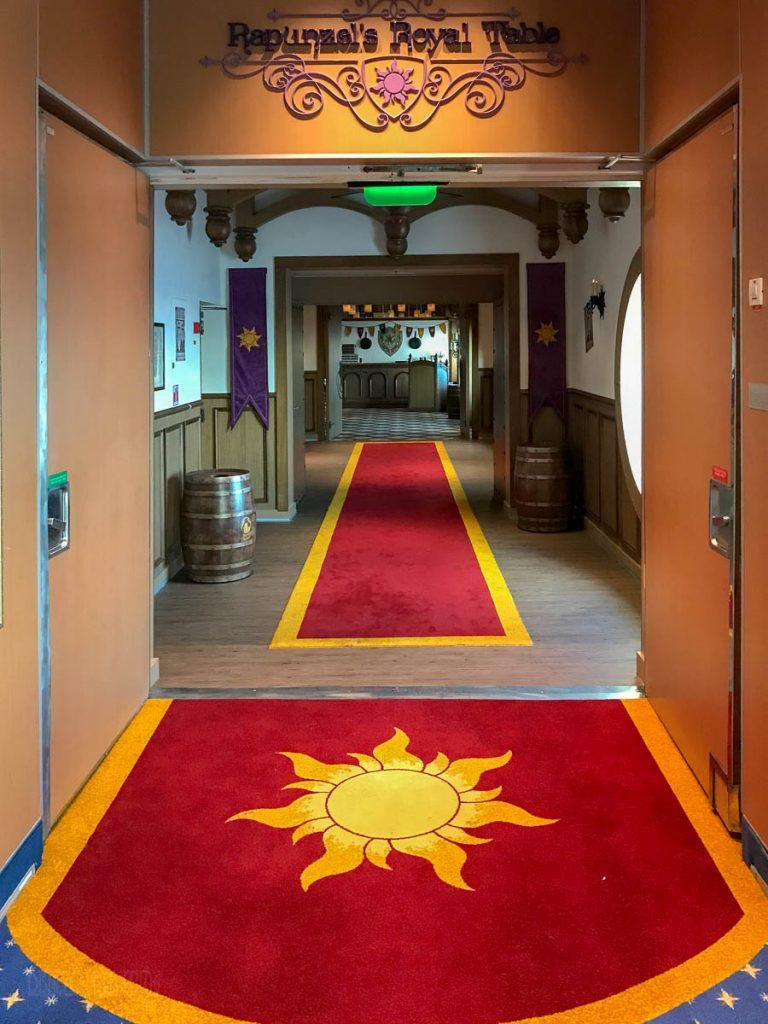 Rapunzel's Royal Table Entrance Walkway
