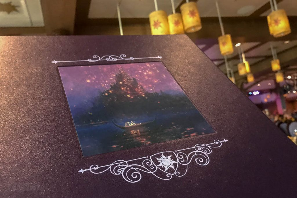 Rapunzel's Royal Table Menu Cover