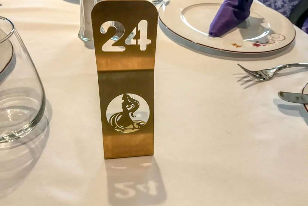 Rapunzel's Royal Table Table Number