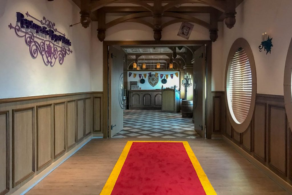 Rapunzel's Royal Table Walkway Sign Portholes
