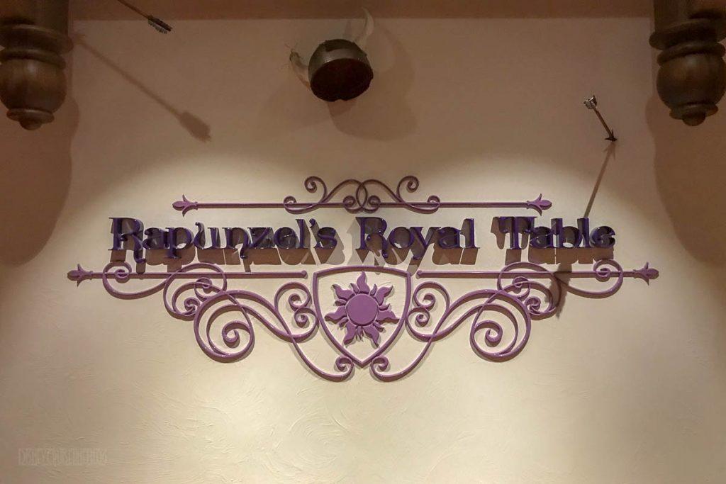 Rapunzel's Royal Table Walkway Sign