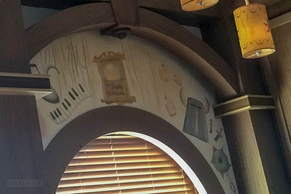 Rapunzel's Royal Table Window Murals
