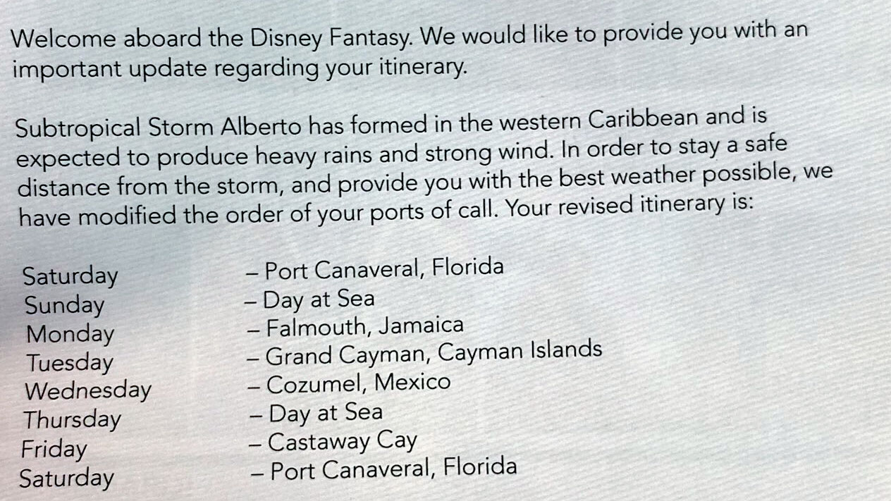 DCL Fantasy STS Alberto Itinerary 20180526