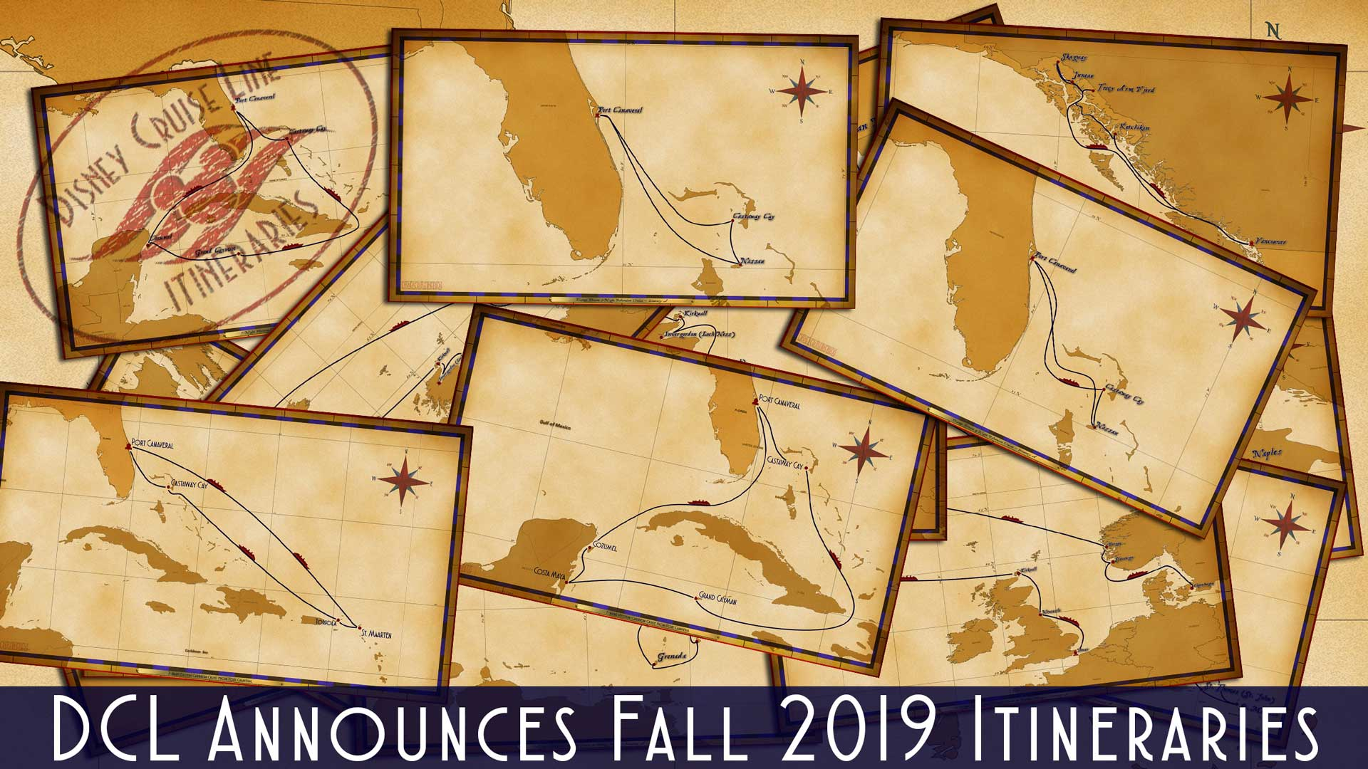 DCL Itinerary Release Fall 2019