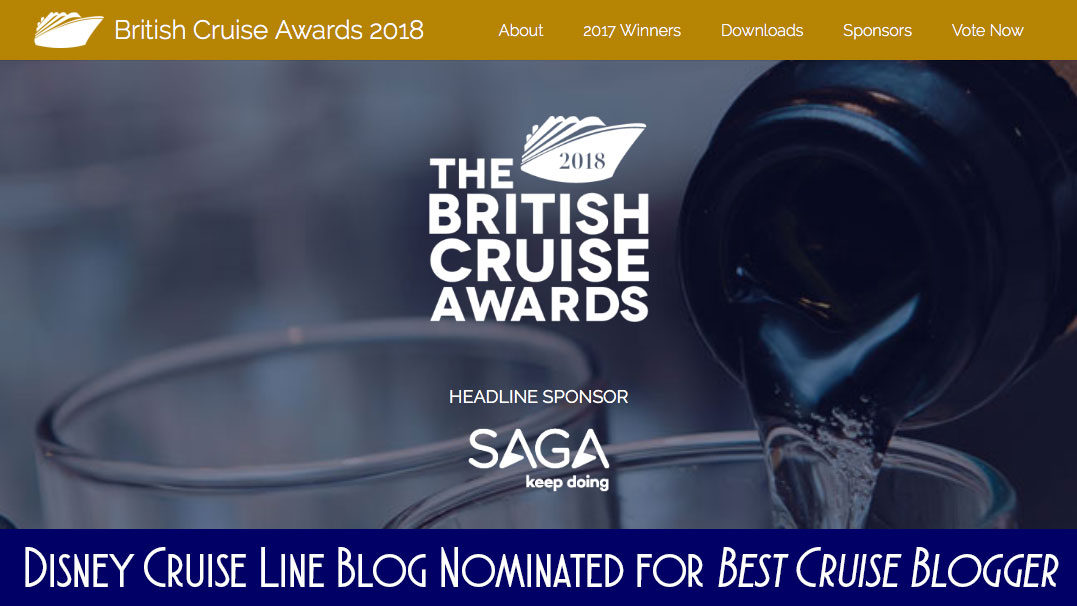 DCLBlog Cruise International Awards Best Cruise Blogger Nomination 2018