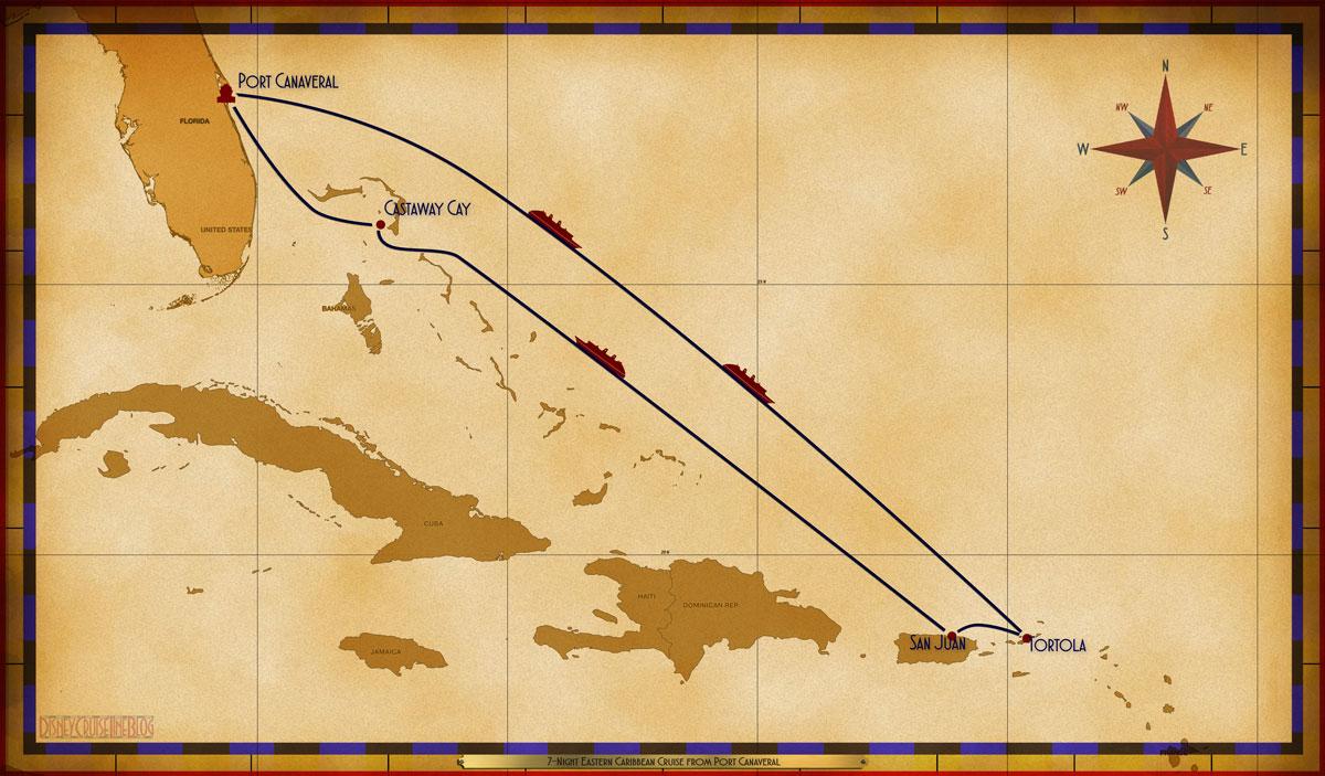 Map Fantasy 7 Night Eastern Caribbean PC SEA SEA TOV SJU SEA CC