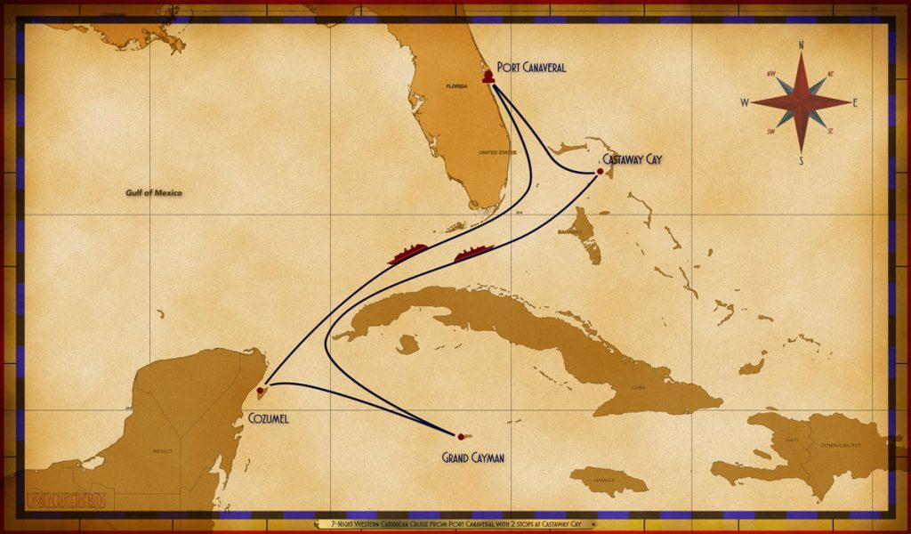 Map Fantasy 7 Night Western Caribbean PC Sea COZ GEC Sea CC CC
