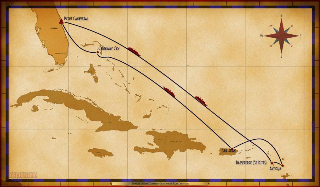 Map Fantasy 8 Night Eastern Caribbean PC SEA SEA BAS ANU SJU SEA CC