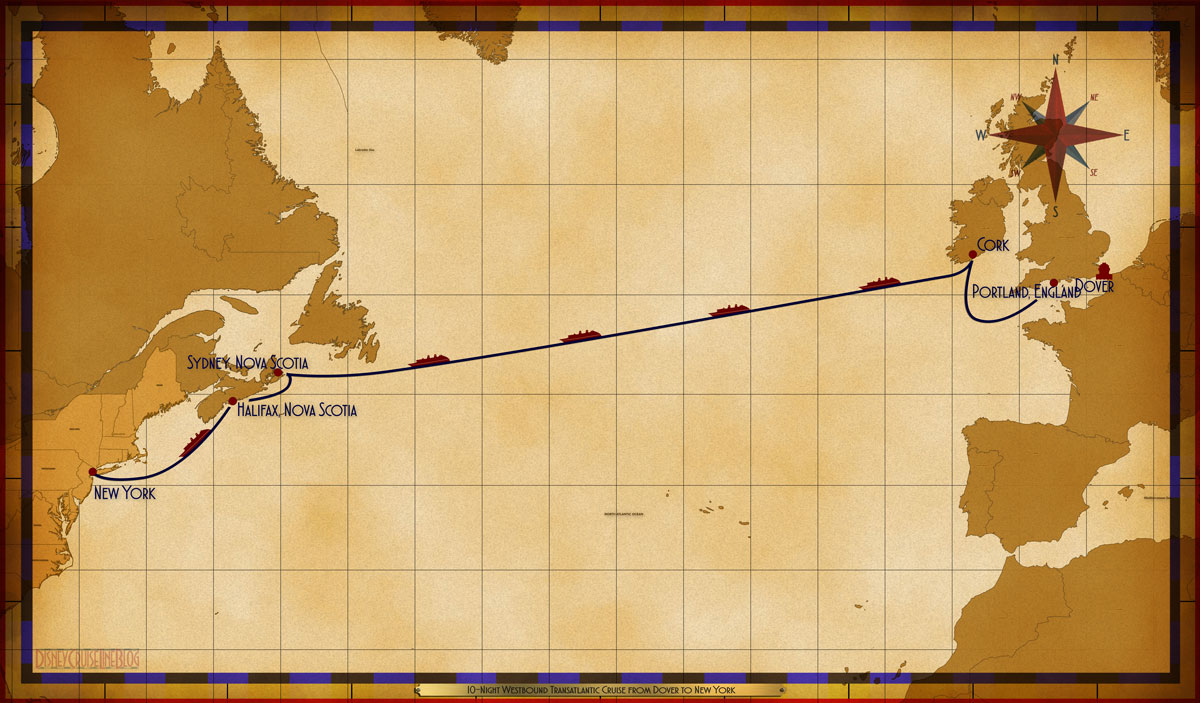 Map Magic 10 Night Westbound Transatlantic Itinerary 2019