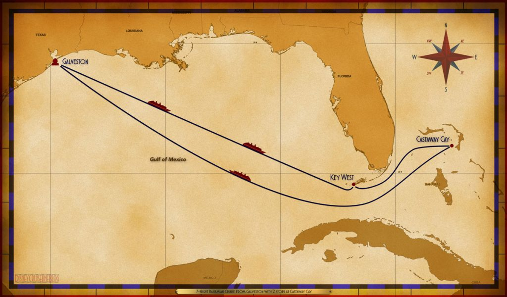 Map Wonder 7 Night Bahamian GAL SEA SEA CC CC KW SEA