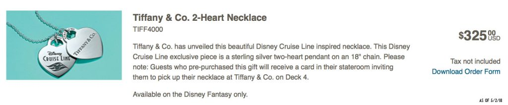 Tiffany Co DCL 2 Heart Necklace PreOrder